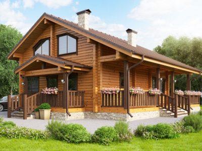 деревянный резной дом